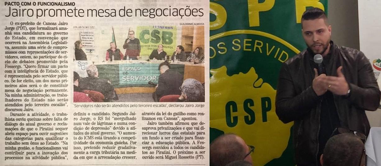 Sindicatos reunidos com Pré-Candidato ao Piratini, Jairo Jorge